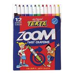 Texta Zoom Twistable Crayons 12 Pack