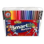 Texta Smarttip Markers Assorted Colours 20 Pack