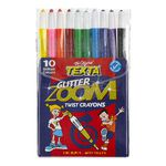 Texta Glitter Zoom Twistable Crayons Pack 10