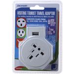 Jackson Inbound Surge Protected USB Multi Pin Travel Adaptor