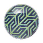Jonathan Adler Glass Dome Magnets Navy 6 Pack