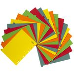 J.Burrows A4 A-Z Tab Dividers Bright Colours
