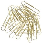 J.Burrows 50mm Paper Clips Gold 70 Pack