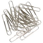 J.Burrows 50mm Paper Clips Silver 70 Pack