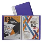 J.Burrows Display Book A4 20 Pocket Fixed Purple