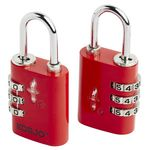 Korjo TSA 3 Dial Luggage Combination Lock 2 Pack