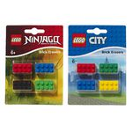 LEGO City Brick Erasers Assorted Colours 4 Pack