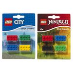 LEGO Ninjago Brick Erasers Assorted Colours 4 Pack