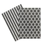 Letter File A4 Single Printed Grey Chevron