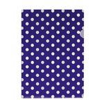 Letter File A4 Single Printed Purple Spot
