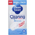 Clean Bean Capsule Coffee Machine Cleaning Tablets 8 Pack