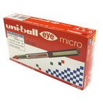 Uni-Ball Eye Micro Rollerball Pens Red 12 Pack