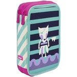 Milan Double Decker Pencil Case Set Animal Anchor Club Purple