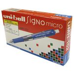 Uni-Ball Signo Retractable Gel Pens Blue 12 Pack