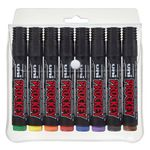 Uni Prockey Permanent Markers Assorted 8 Pack