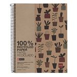 Miquelrius A4 Recycled Notebook Ruled Plant 240 Page