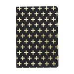 Otto Gold Cross A5 Notebook Gold and Black 160 Page