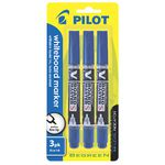 Pilot V Board Whiteboard Markers Blue 3 Pack