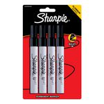 Sharpie Pro Metal Permanent Markers Black 4 Pack