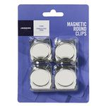 J.Burrows Magnetic Clips Round Stainless 4 Pack