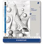 Staedtler Lumograph Sketch Pencils Tin of 20