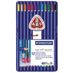 Staedtler Ergo Soft Aquarell Watercolour Pencils 12 Pack