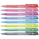 Staedtler Stick 432 Ice Ballpoint Pens Assorted 8 Pack