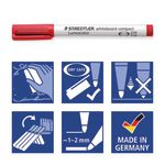 Staedtler 341 Compact Whiteboard Markers Assorted 4 Pack