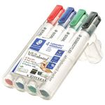 Staedtler 351 Whiteboard Markers Chisel Assorted 4 Pack