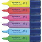 Staedtler Textsurfer Classic Highlighters Assorted 6 Pack