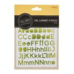 Tailored Foil Alphabet Stickers