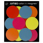 Three By Three Jumbo Colour Dot Magnets 12 Pack