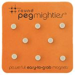 Three By Three Round Peg Mighties Magnets 8 Pack