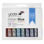 Yoobi Glitter Glue Multi-coloured 10.5mL 10 Pack