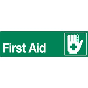 Mills Display First Aid Sign 330 x 95mm