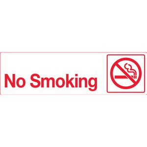 Mills Display No Smoking Sign 330 x 95mm
