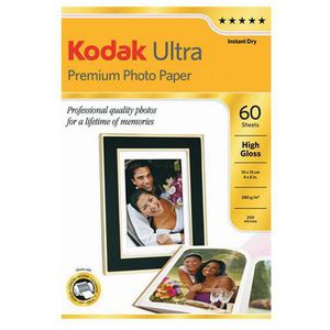 "Kodak 4 x 6"" Ultra Premium Glossy Photo Paper 60 Pack"