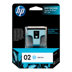 HP 02 Light Cyan Ink