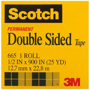Scotch 665 Double Sided Tape 12.7mm x 22.8m
