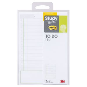 Post-it Study Tools 102 x 149mm To Do List