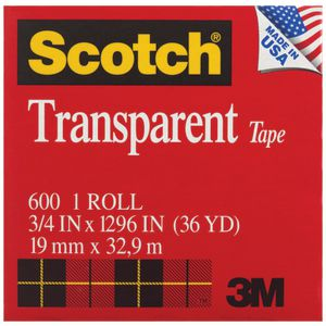 Scotch Transparent Adhesive Tape 19mm x 32.9m