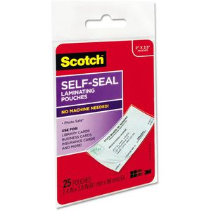 Scotch Self Seal Laminating Pouches 25 Pack