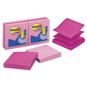 Post-it Pop-up Notes 76 x 76mm Marseille Pink Pastel 6 Pack