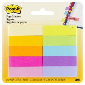 Post-it Page Markers 12mm x 44mm Jaipur 10 Pack