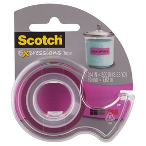 Scotch Expressions Tape 19mm x 7.6m Pink