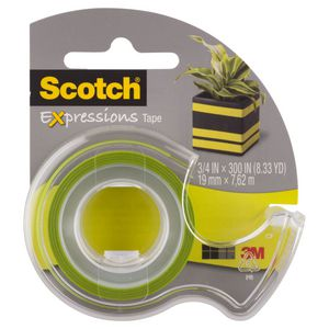 Scotch Expressions Tape 19mm x 7.6m Green