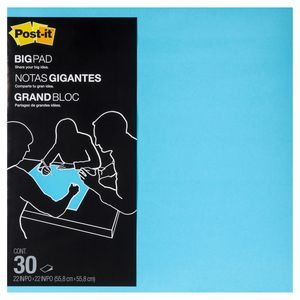 Post-it Big Pad 558 x 558mm Electric Blue 30 Sheet