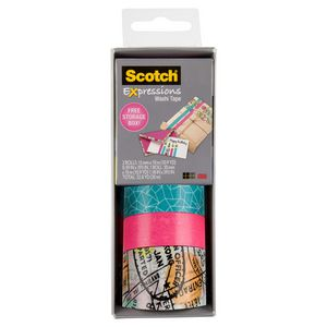 Scotch Expressions Washi Tape 3 Pack Travel