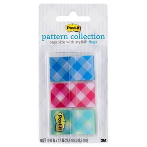 Post-it Pattern Collection Flags 24 x 43mm Flags 3 Pack