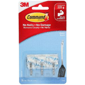 Command Small Utensil Hooks with Strips Clear